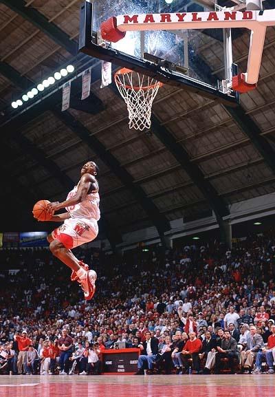 Breakaway dunk. Steve Francis in college.