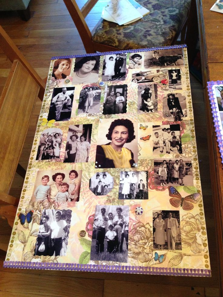 Poster Board Ideas For Funerals : I made a memorial board for my grandmother thought this