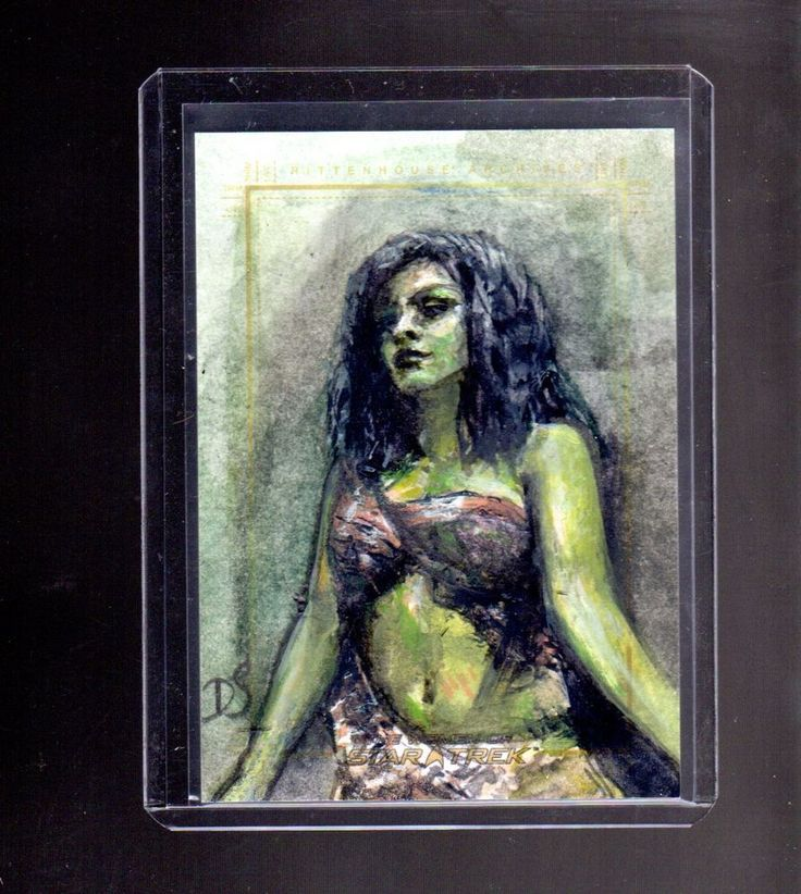 This is a sketch card set from the 2017 Women of Star Trek 50th Anniversary series made by Rittenhouse and was drawn by Debbie Jackson. | eBay!