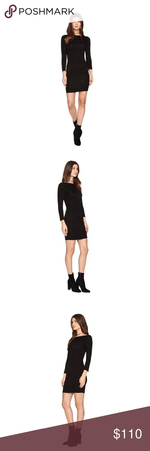 Julie lace up back dress. Super soft and comfy black dress. Clayton Dresses Backless