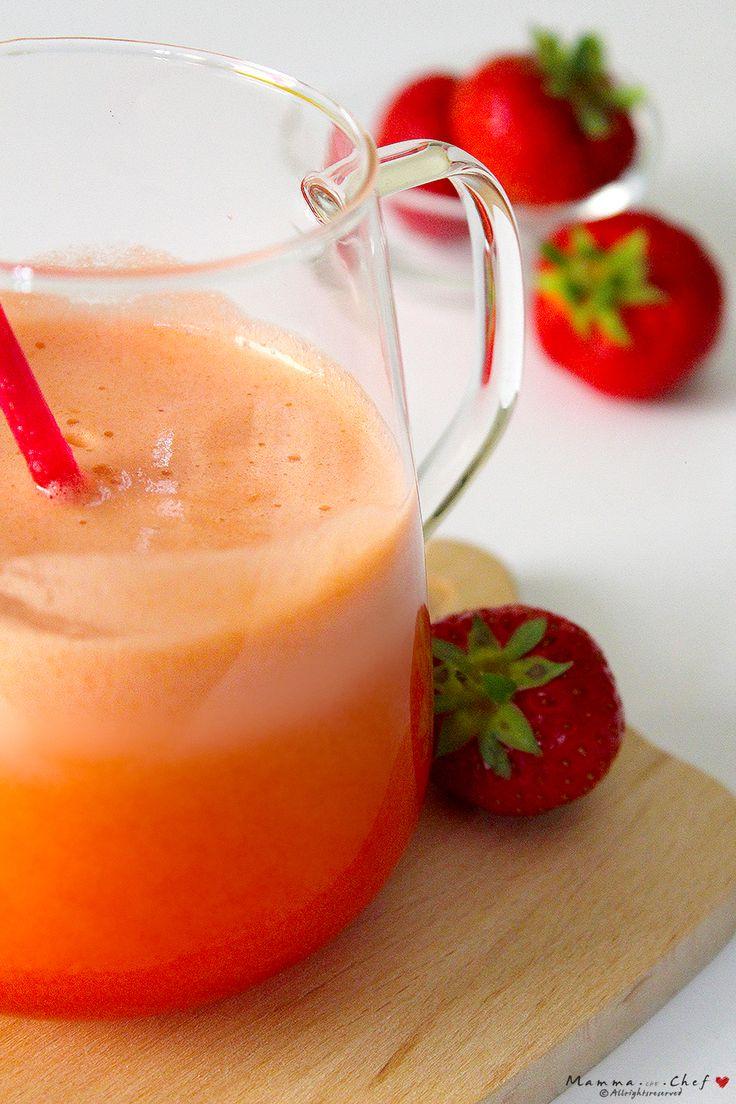 Il Cocktail alla fragola è un vero centrifugato di benessere! Fresco, profumato, un cocktail analcolico ideale per adulti e bambini.