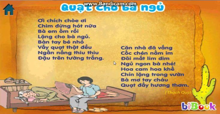 Quạt Cho Bà Ngủ - Những bài thơ thiếu nhi hay nhất - YouTube