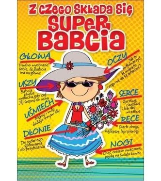 Karnet Passion Plus Super Babcia - 4,05 PLN - PP-1621 - Kartki, Karnety - Kukartka.pl