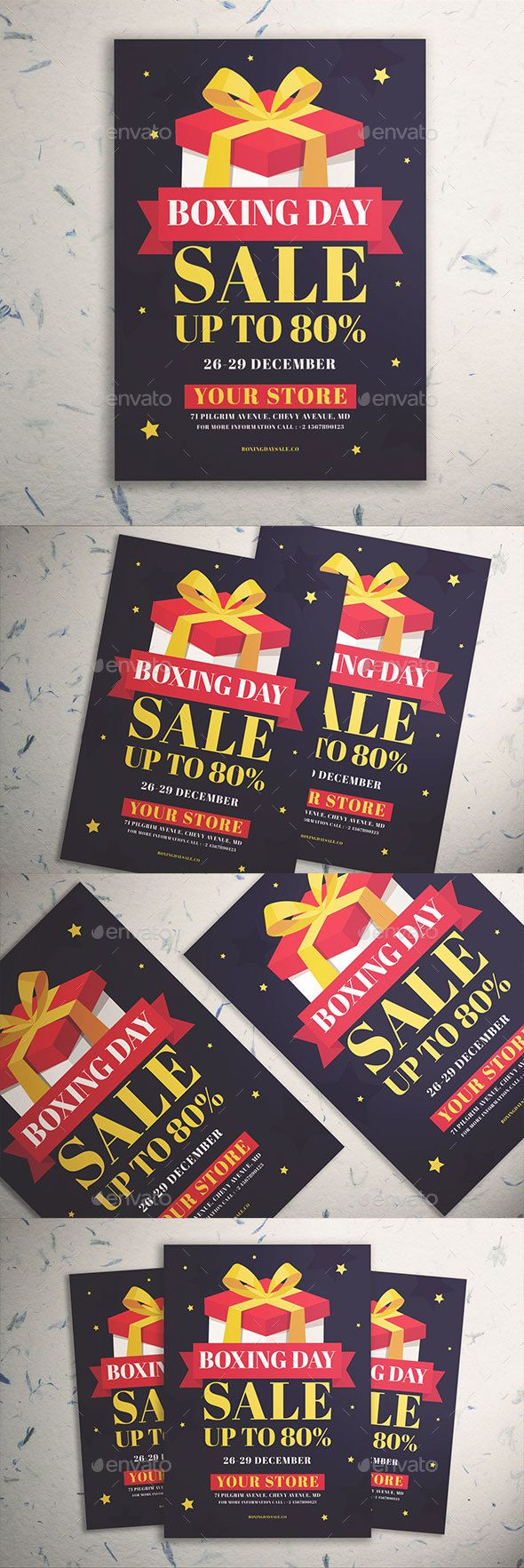 Boxing Day Sale Flyer Template PSD