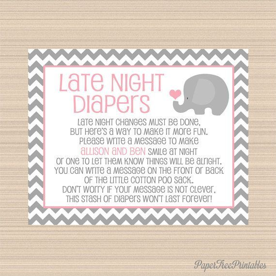 Elephant Child Bathe, Late Night time Diapers Digital Signal, Gray and Pink. >> See even more at the picture link