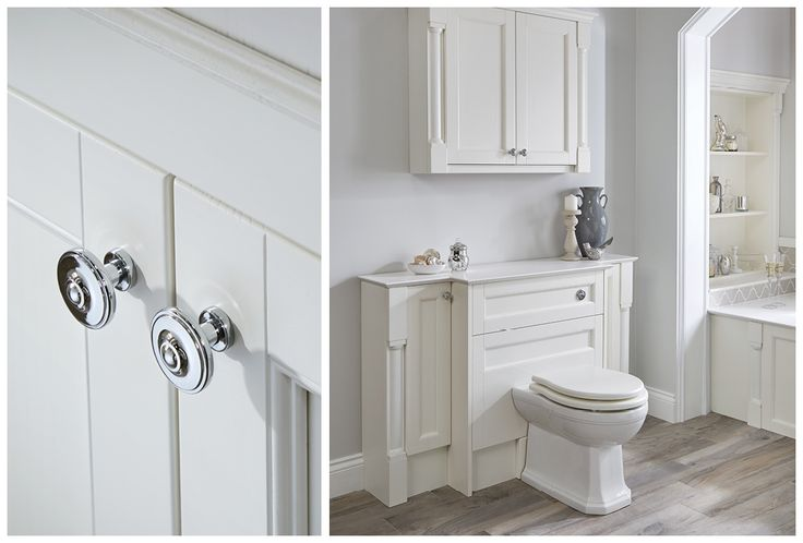 Polished chrome button knobs add a finishing touch #Roseberry #paintedtimber #bathroomfurniture #myutopia