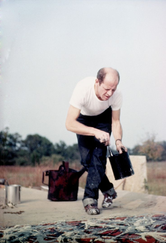 Jackson Pollock - outdoor painting