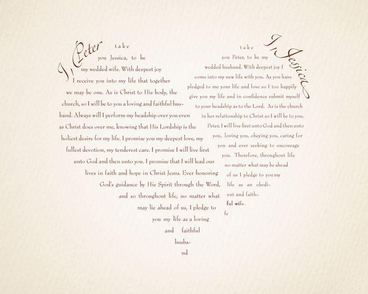 Biblical Wedding Vow. LOVE it!! :D