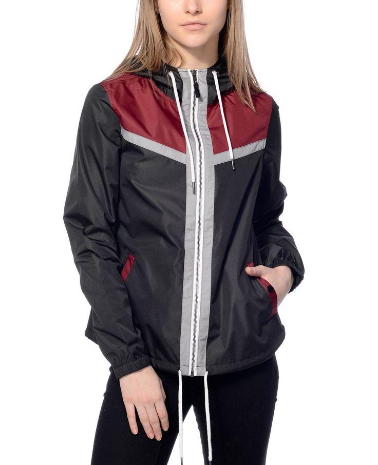 http://www.quickapparels.com/two-ton-women-fashionable-black-burgundy-windbreaker-jacket.html