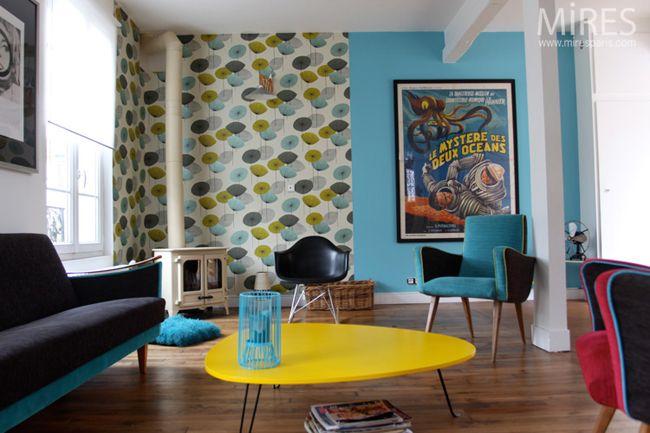 Interieur vintage et coloré