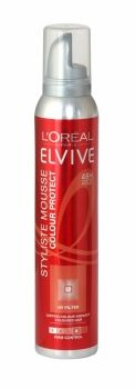 Loreal Elvive Styliste Mousse 200ml Colour Protect Enriched with UV Filters, L'Oreal Elvive Styliste Mousse is a smooth and exquisite formula designed to help protect your vibrant coloured hair. It offers a 48 hour lasting hold thanks to its strong fixing power. Create a perfect style that holds!