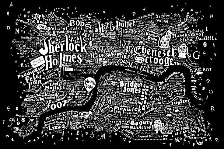 The literary map of London (although the illustrator's grasp of London geography is, to say the least, loose - Battersea East of Lambeth?)