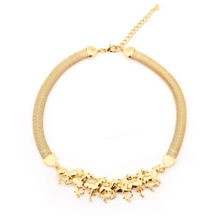 Horse Necklace Gold