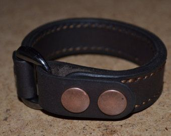 Leather Bracelet-men bracelet-handmade by sergklim on Etsy