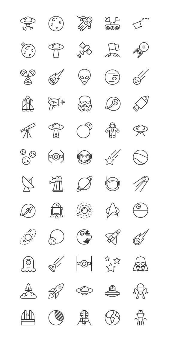 Today's special freebie is a unique Free Space iOS Line Icons Set. This is an special icon set related to space and astronautics that contains 60 ic…