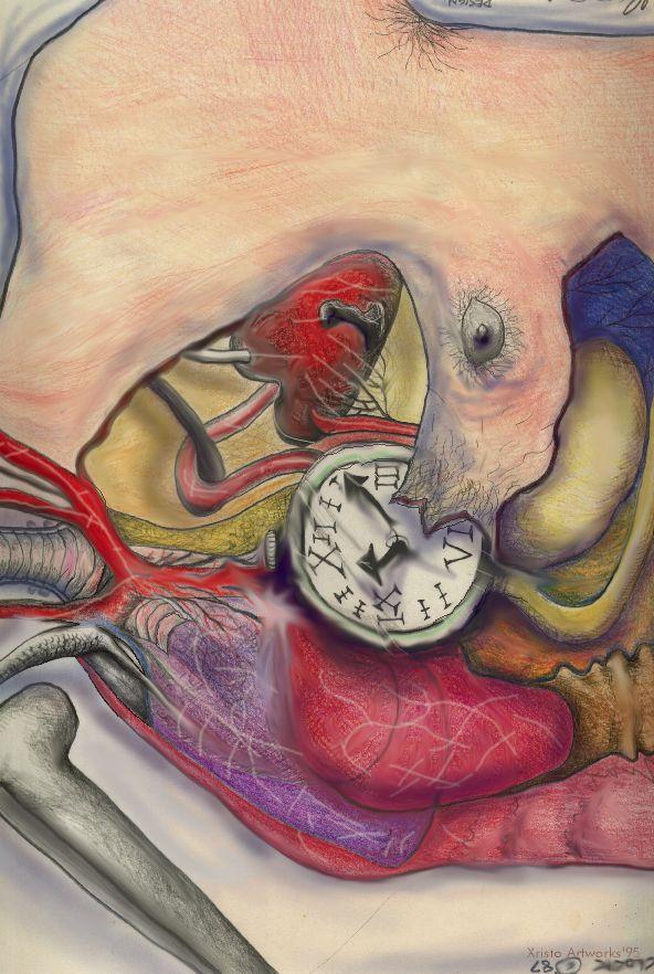Body Clock Illustration poster, Xristo aka Chris Russell