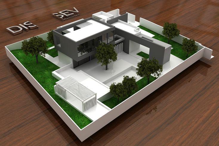 Edificios moderno exterior dibujos fachada render for Exterior edificios