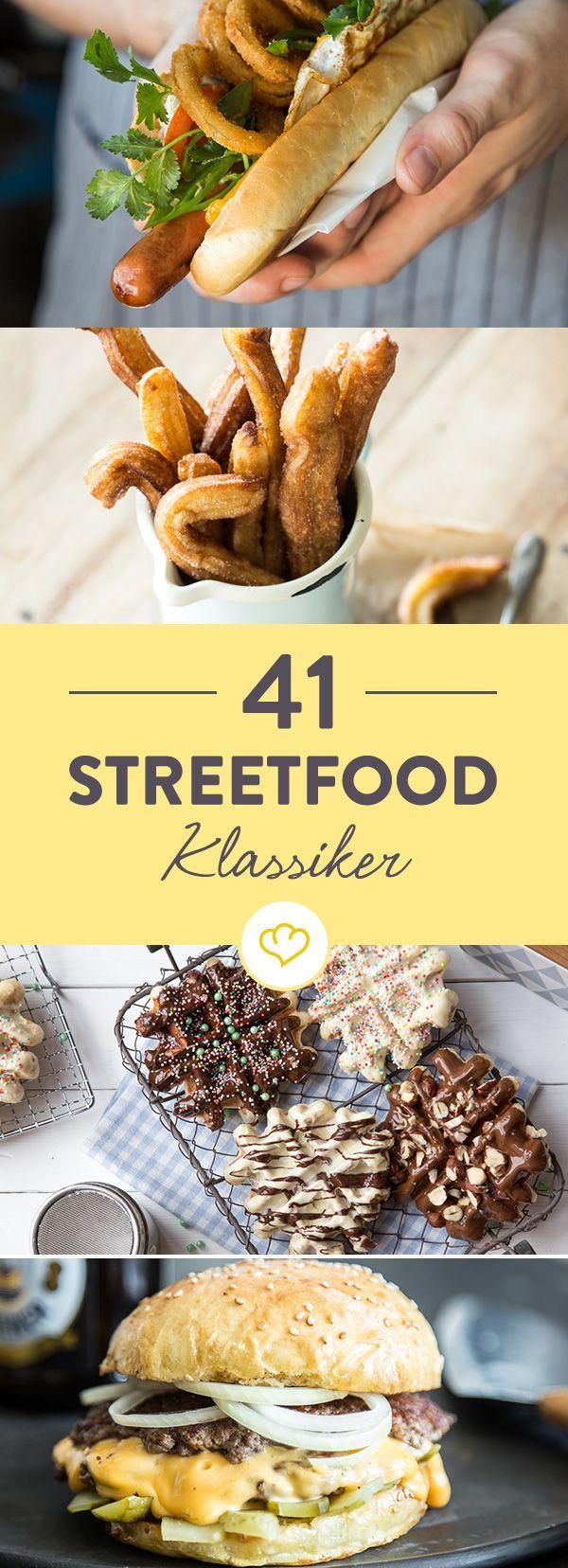 Du liebst Streetfood und möchtest die leckersten Rezepte bei dir zu Hause auf den Tisch bringen? Kein Problem, hier kommen 41 Ideen aus der ganzen Welt.
