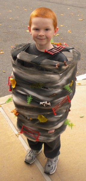 Tornado - DIY Halloween costume (but I'd keep the arms free do you aren't doing everything/carrying everything)