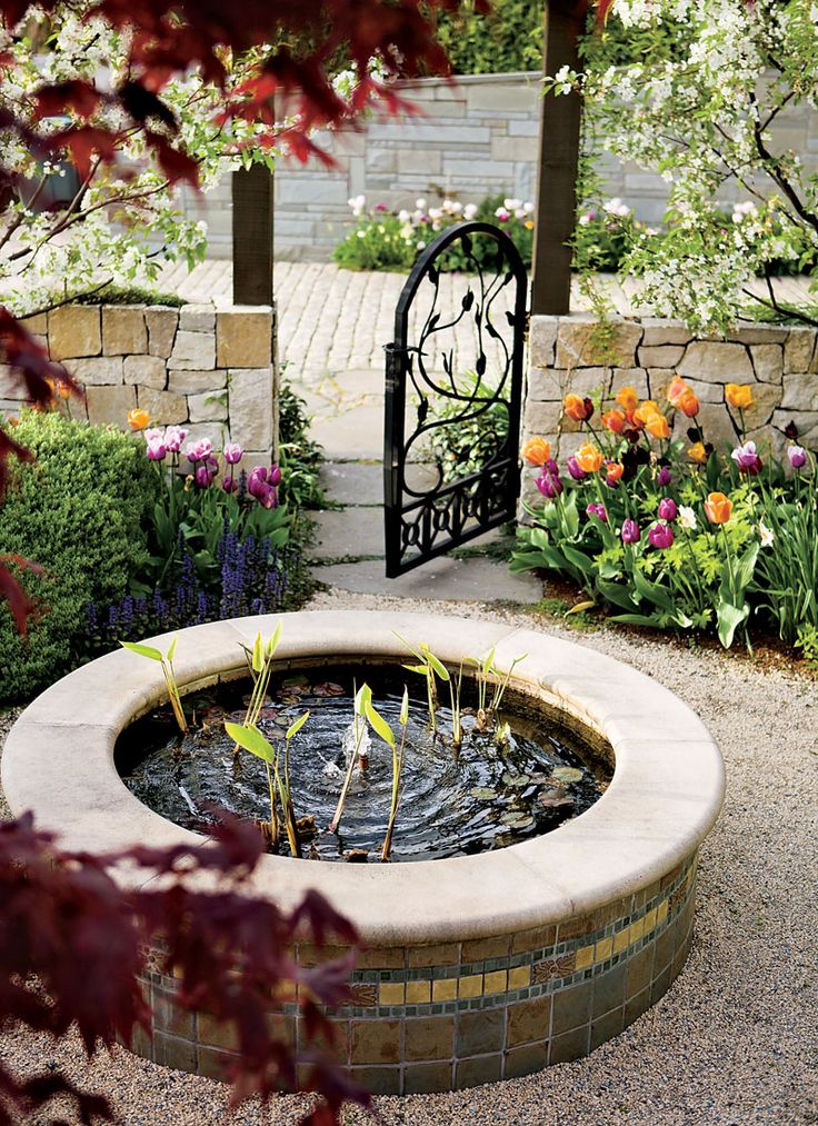 17 best images about water features on pinterest gardens for Circular garden ponds