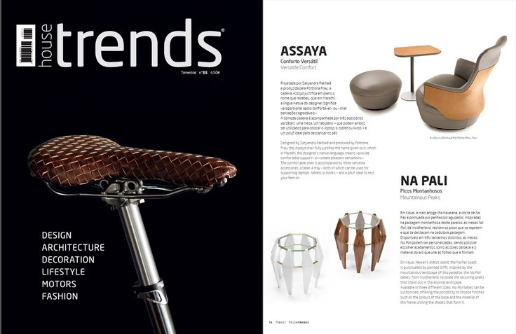 INSIDHERLAND | Na Pali tables by Joana Santos Barbosa featured at House Trends magazine from Portugal