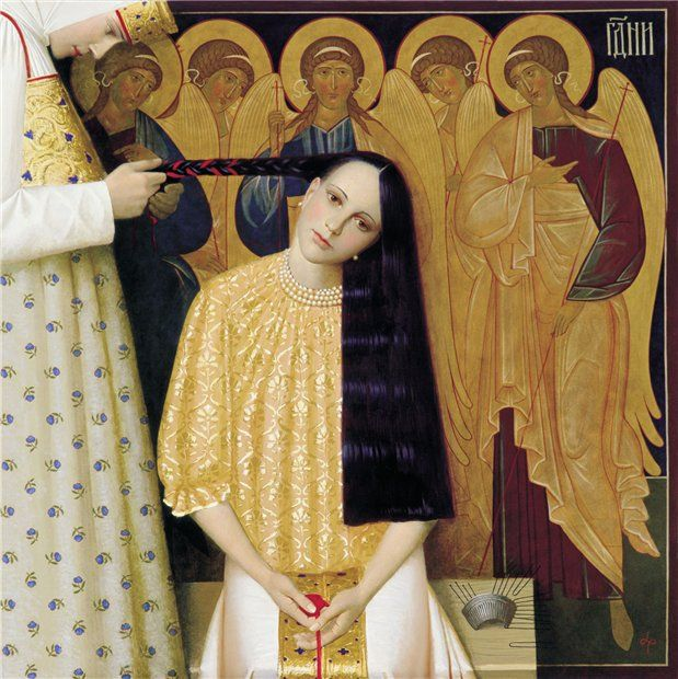 Andrey RemnevContemporary Artists, Painting Art, Andrey Remnev, Dreams Hair, Art Museums, Ethnic Style, Angels, Portraits Art, Andreyremnev