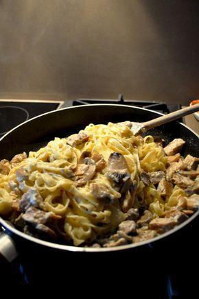 Ταλιατέλες με χαλούμι και μανιτάρια - Tupper food   blogs @ γαστρονόμος