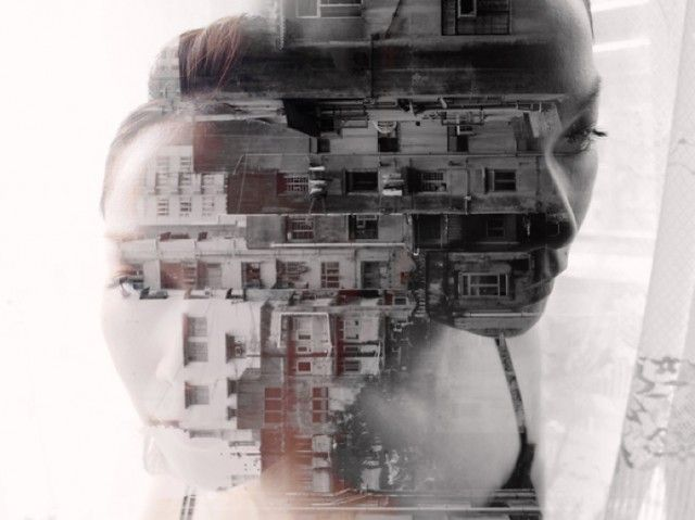 Loving the duality of these double exposure portraits by Japanese photographer, Miki Takahashi.