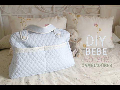 DIY Bebé: Cómo hacer una bolsa para pañales (patrones gratis) - YouTube