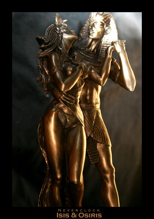 In ancient Egypt, the marriage between Isis and Osiris was considered sacred union of heaven and earth, of yin and yang, of the feminine and the masculine principles. Description from pinterest.com.