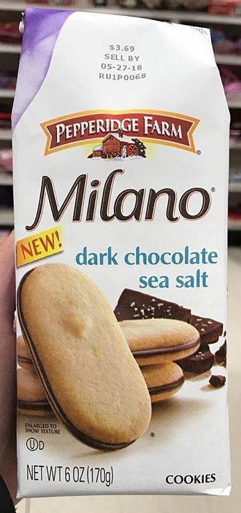 Pepperidge Farm Milano Dark Chocolate Sea Salt Cookies