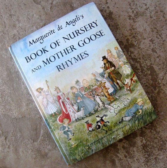 Vintage Childrens Book Nursery and Mother Goose Rhymes