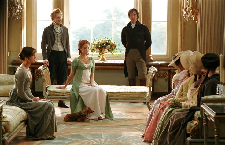 I love how many scenes in the movie look like paintings.  At Netherfield. Pride and Prejudice.