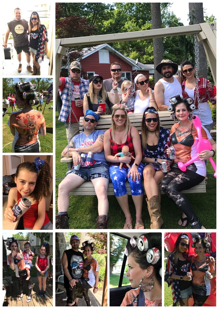 White Trash Party ~ Costume Ideas ~ Ritzy RedNeck ~ Red White & Blue Party