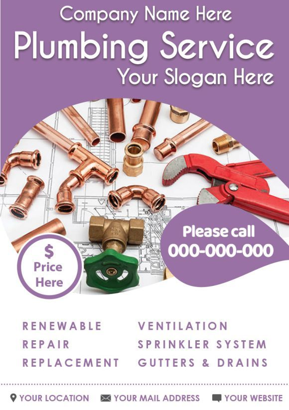 Plumbing Service Slogan Plumbing Business Flyer Flyer