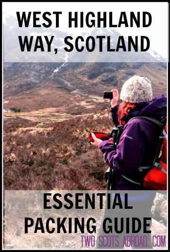 The West Highland Way is a 96 mile trek in Scotland. This essential West Highland Way packing list covers everything you need for hiking in Scotland