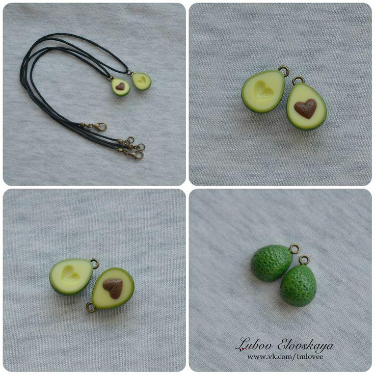 "Парный кулон"" Авокадо"" СДЕЛАНО НА ЗАКАЗ размер: авокадо: 1,5 см  шнурок: 33 см и 41 см"