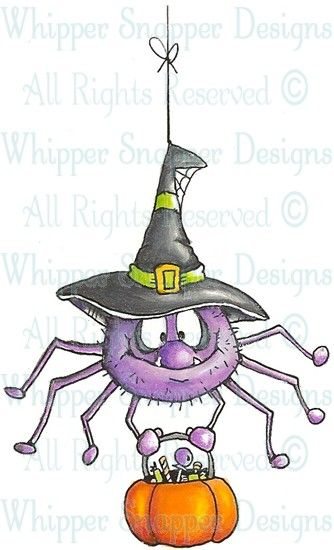 Harry Spider - Halloween Images - Halloween - Rubber Stamps - Shop
