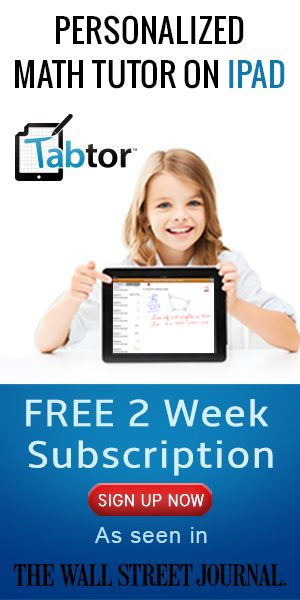 We're big fans of TabTor's iPad math app! Check it out today, click >>  https://www.tabtor.com/?utm_source=volunteerspot&utm_medium=300x600banner&utm_campaign=personalized-tutoring