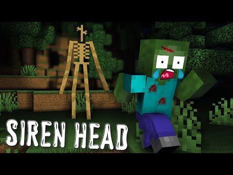 Monster School Siren Head Minecraft Animation Youtube Monster School Animation Zombie Life