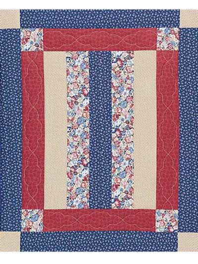 Free Amish-Inspired Baby Quilt Pattern -- Download this easy quilt pattern from FreePatterns.com.