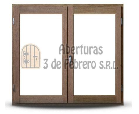 Ventana de madera de abrir - Mod. Madera Ventanas - Tradicional | Aberturas 3 de Febrero S.R.L.