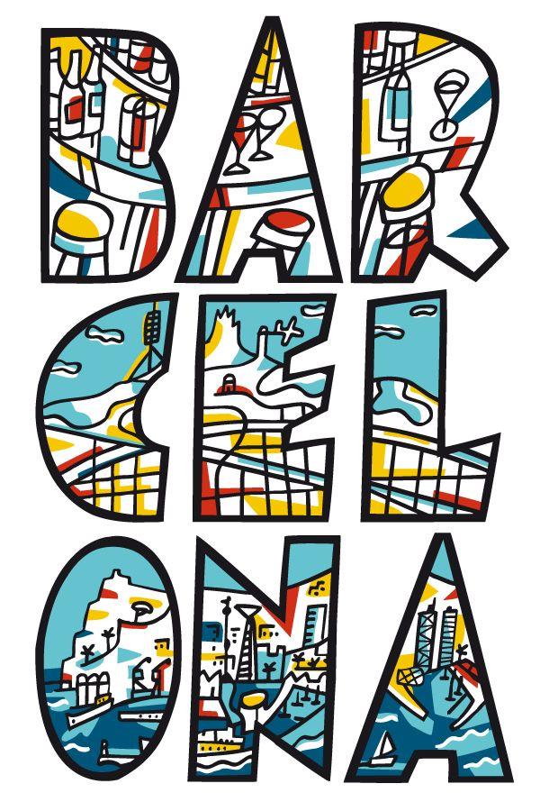 Amar Barcelona con el corazon