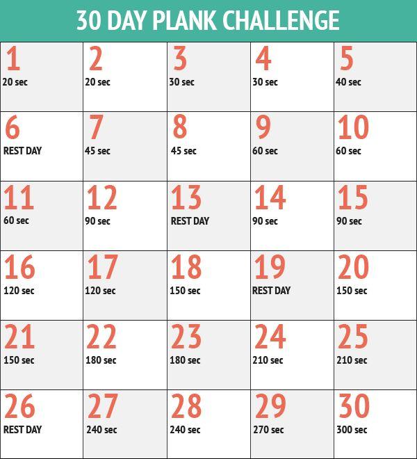 squat progression chart | September 30-Day Plank Challenge