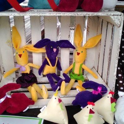 zabawki i przytulaki a może świąteczne inspiracje beeba.pl! Zajączki, kurki i takie tam ;)