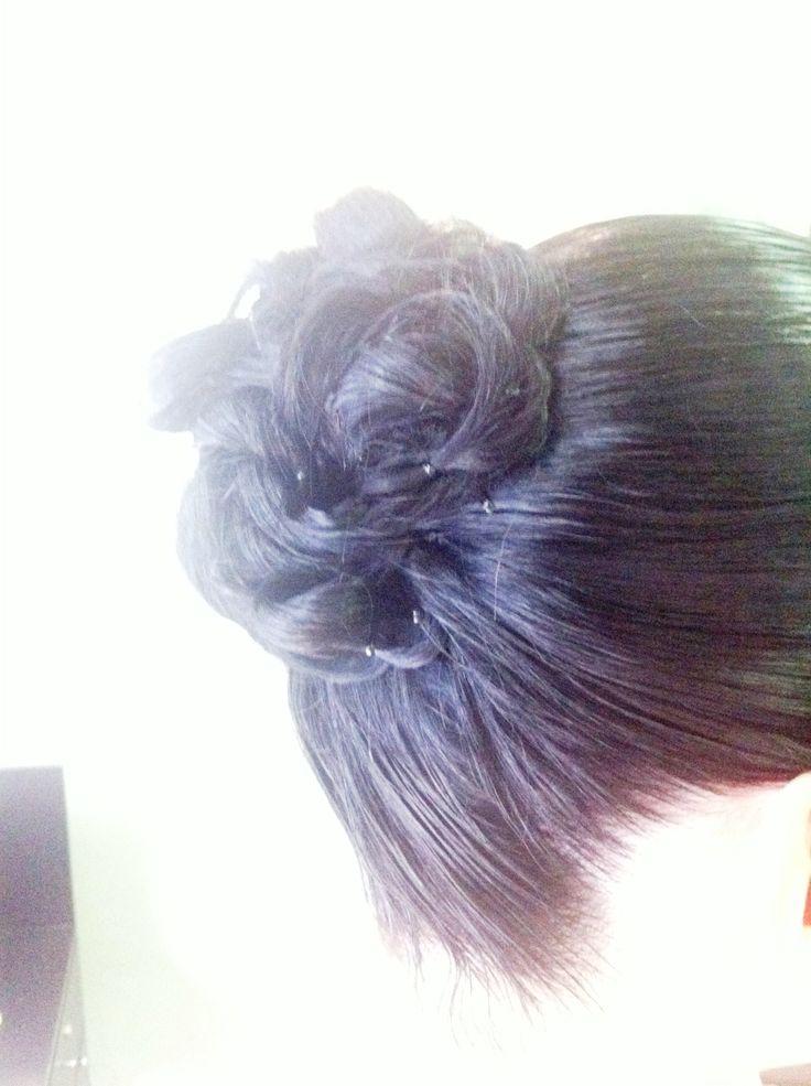 #brunette #bun #hair #be2in