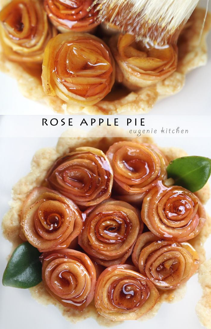 Rose Apple Pie Recipe - Eugenie Kitchen