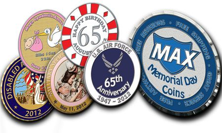 The effort to preserve these joyful moments, is always a healthy practice. Custom coins are the best way to saved the moment to make them memorize for the ages. Memorial Day coins are the best example of this, read more... http://www.maxchallengecoins.com