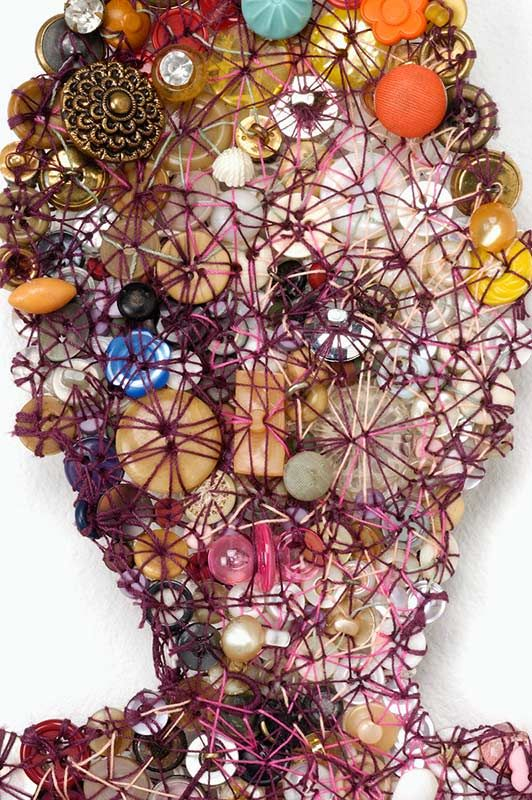 Kisa Kokin, Leotard (detail), 2003, mixed media button work