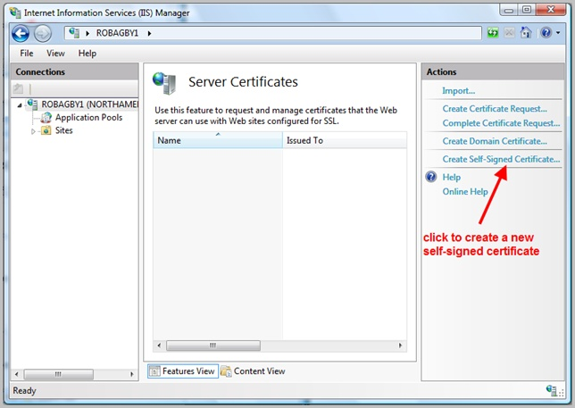 Self-Signed Certificates on IIS 7 – the Easy Way and the Most Effective Way